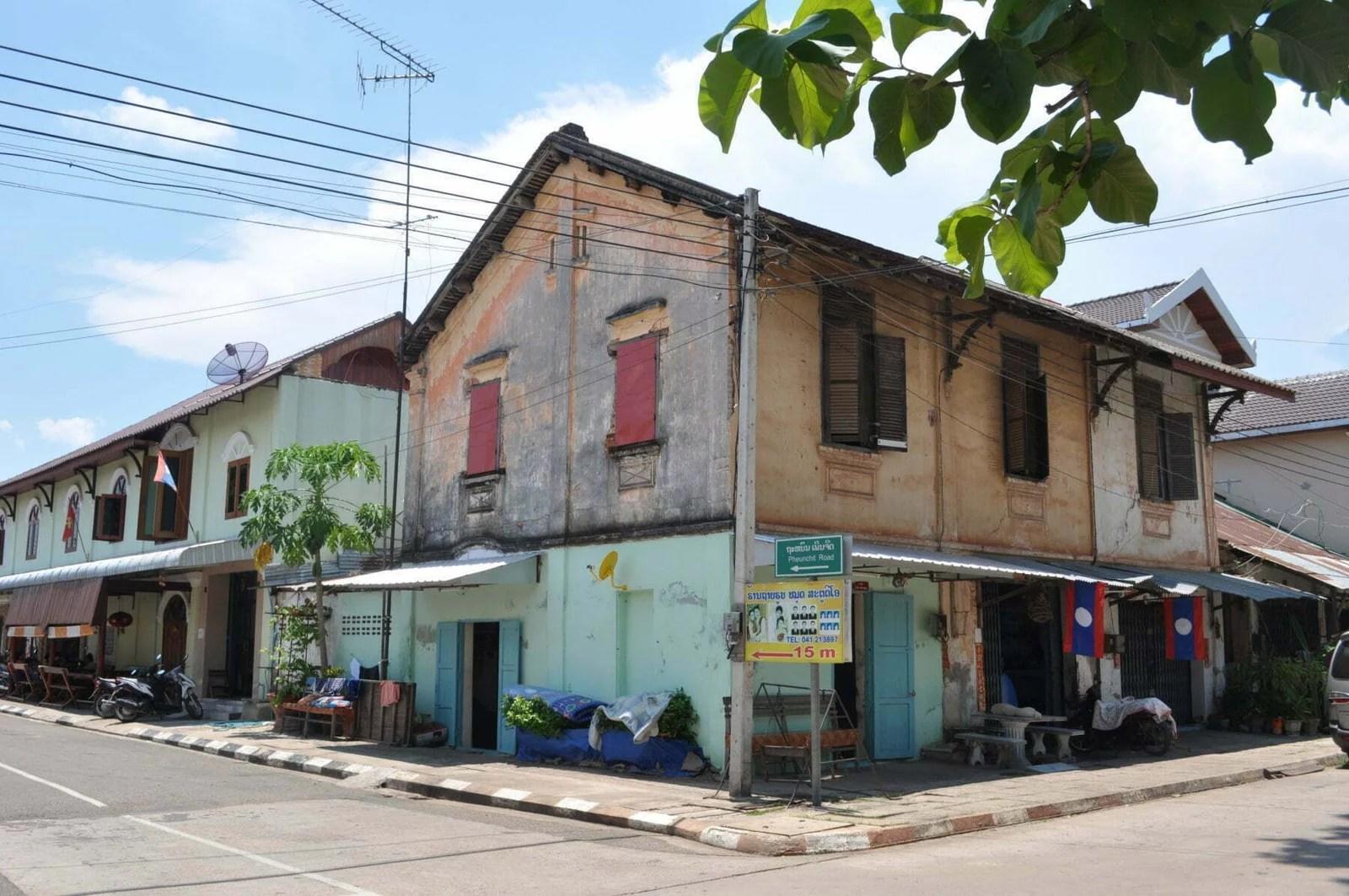 maison coloniale rue savannakhet laos