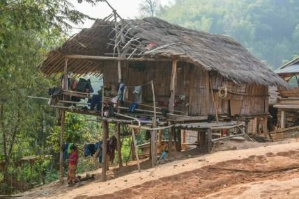 maison traditionnelle village lahu baan yafu - chiang rai