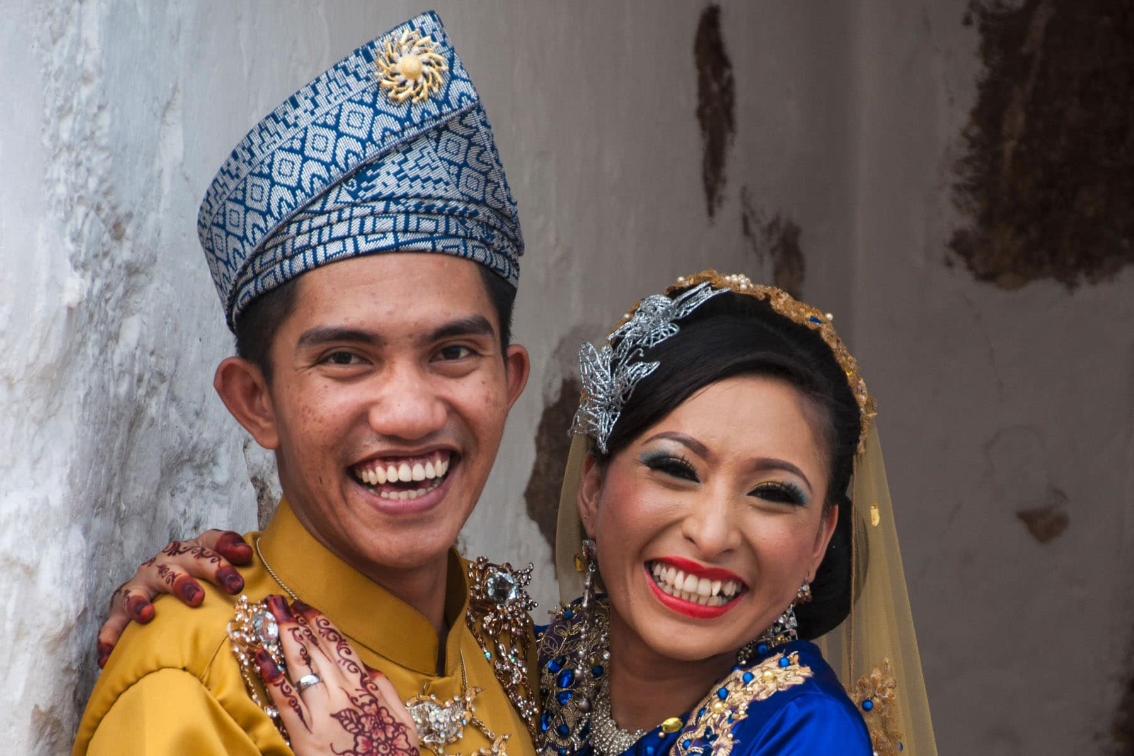 jeune couple mariee malacca - malaisie
