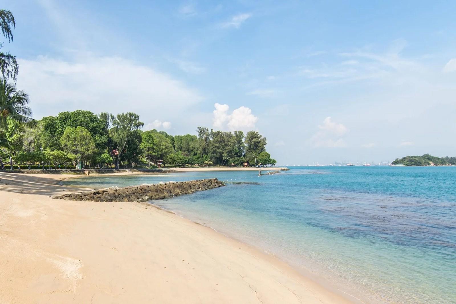 plage ile saint john singapour