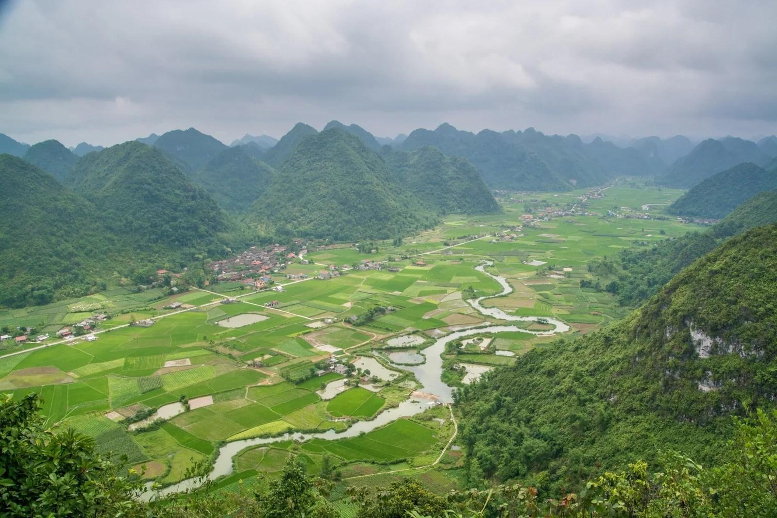 point de vue vallee bac son nord vietnam
