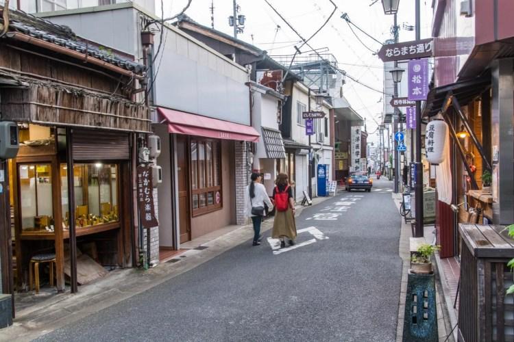 petite rue vers shimomikadocho nara - japon