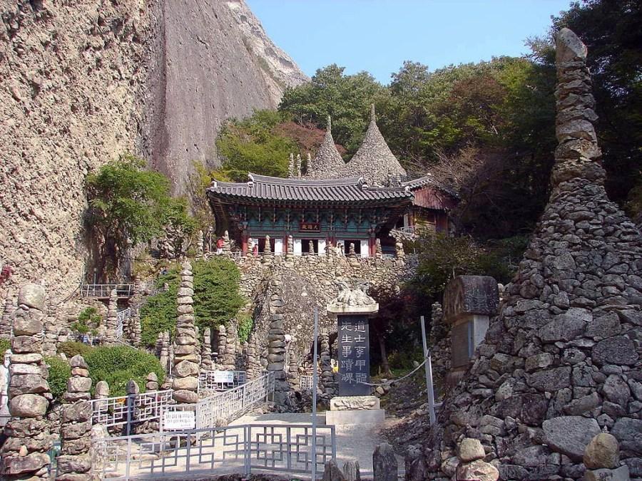 temple tapsa pagodes pierres mont maisan - coree du sud