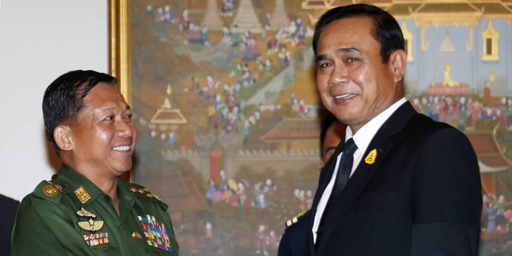 Le chef de la junte birmane demande de l'aide à son homologue thaïlandais pour la démocratie