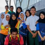 Malay Muslim school girls and boys