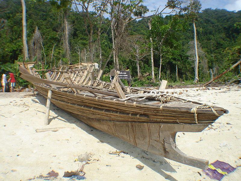 Moken boat in Surin Island