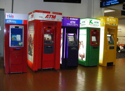 ATM machines inside Don Mueang Airport