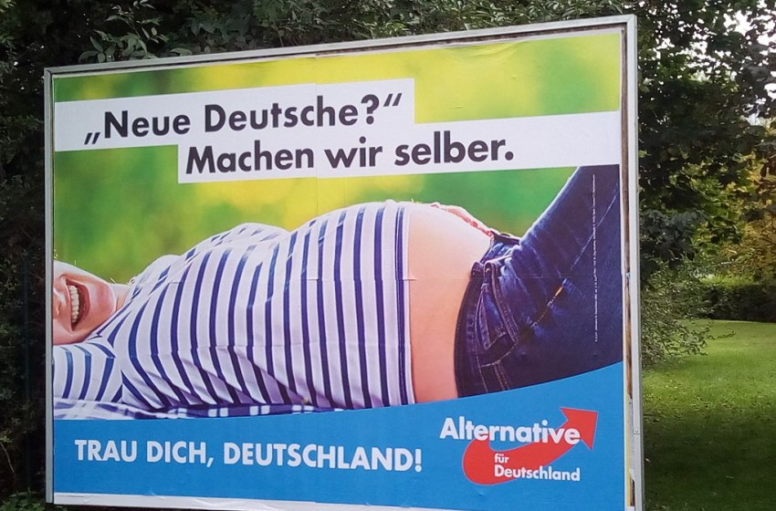 """Campaign poster of the party """"Alternative für Deutschland"""" for the Federal elections 2017"""