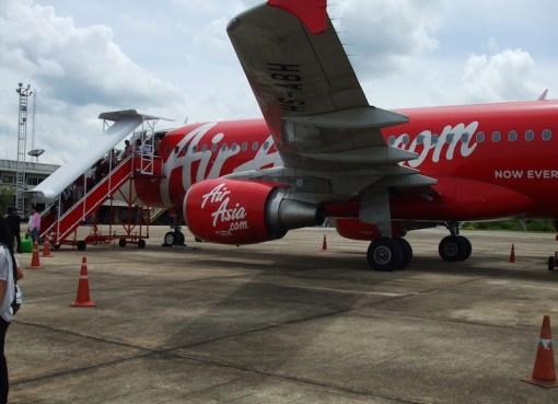 AirAsia airbus A320 at Surat Thai Airport in 2010
