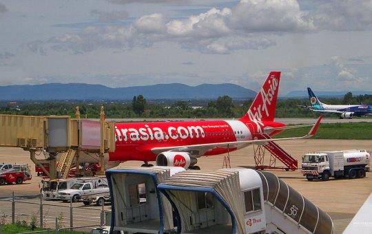 AirAsia Airbus A320-216 at Khon Kaen Airport