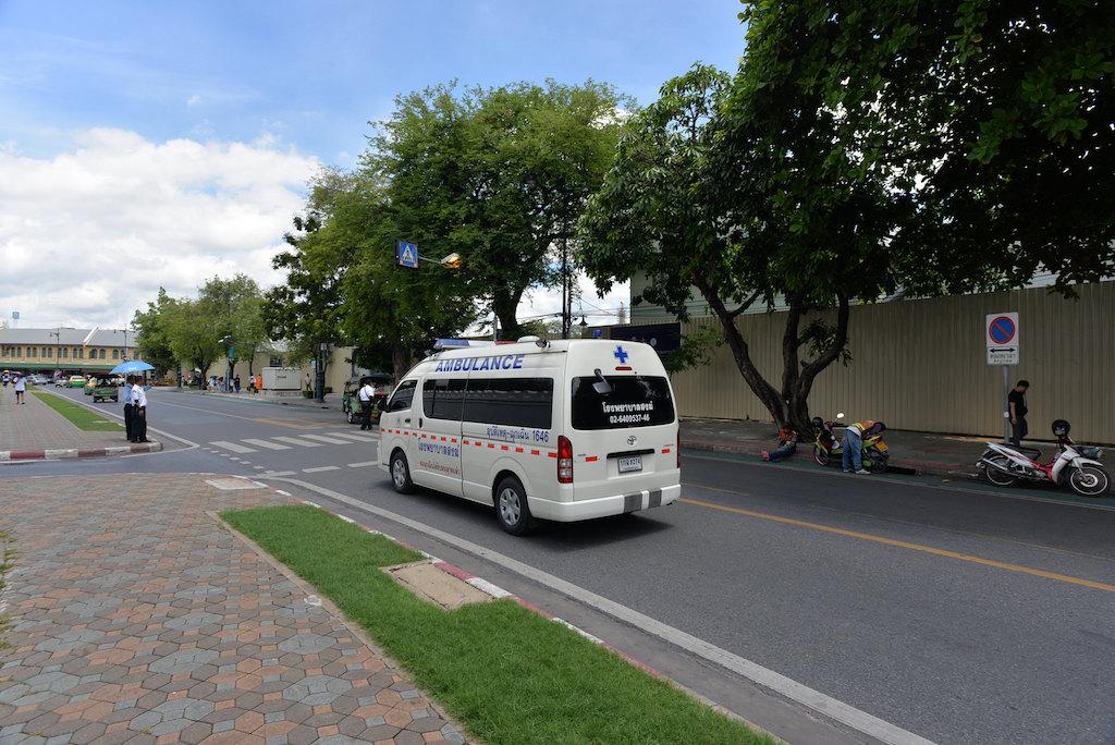 Ambulance at Maha Rat Road, Bangkok