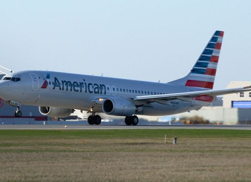 American Airlines Boeing 737-800 with new livery taking off