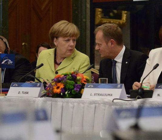 Angela Merkel and EU President Donald Tusk