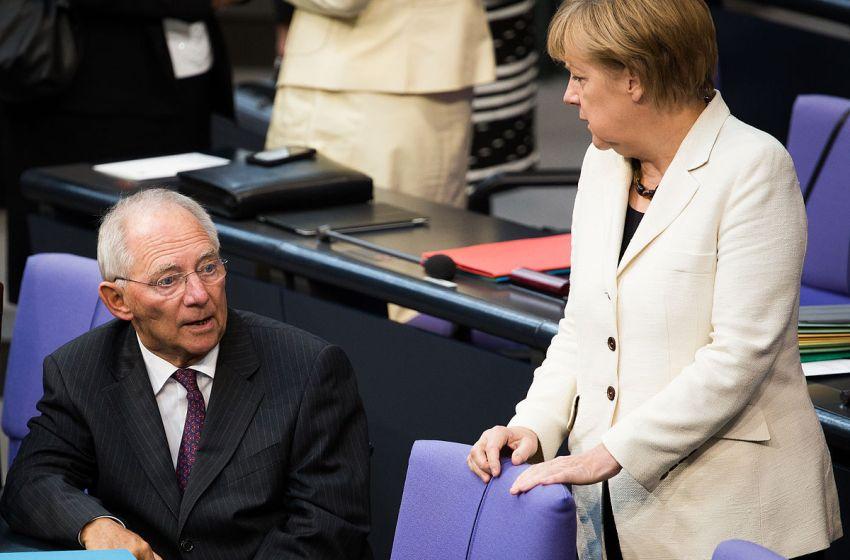 Wolfgang Schäuble and Angela Merkel