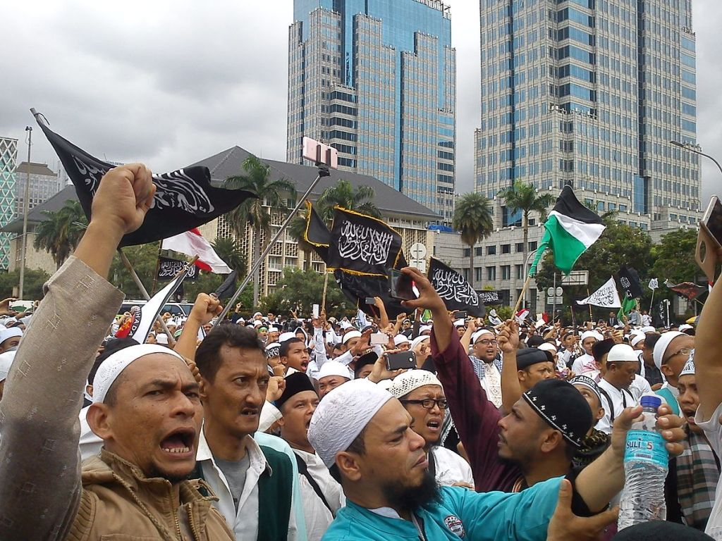 Protests by Muslims in Indonesia