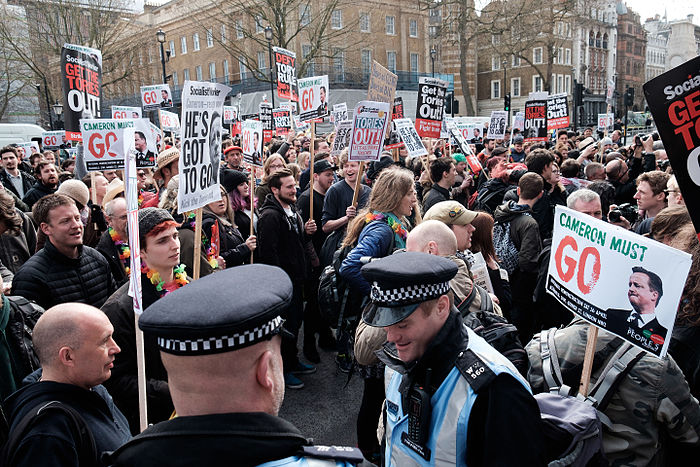 Thousands march in London calling for David Cameron's resignation over tax affairs 2