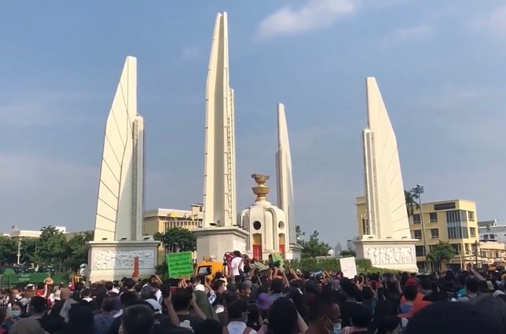 Anti-government protest at Democracy Monument in Bangkok July 18, 2020