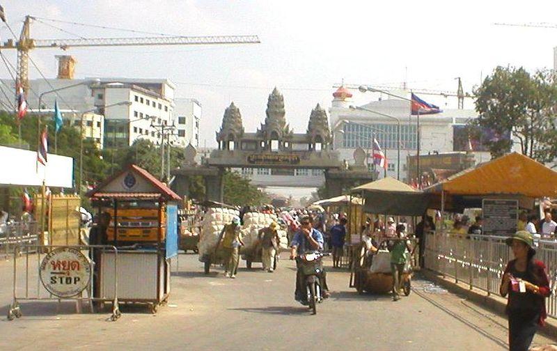 Thai-Cambodian border in Aranyaprathet