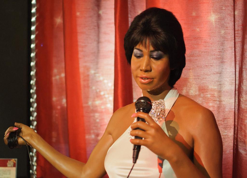 Aretha Franklin at Madame Tussaud's New York