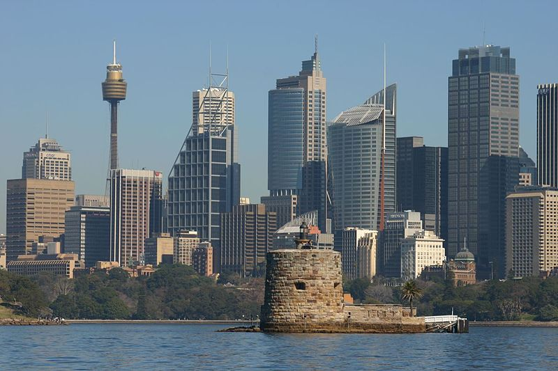 Fort Denison in Sydney, the state capital of New South Wales in Australia