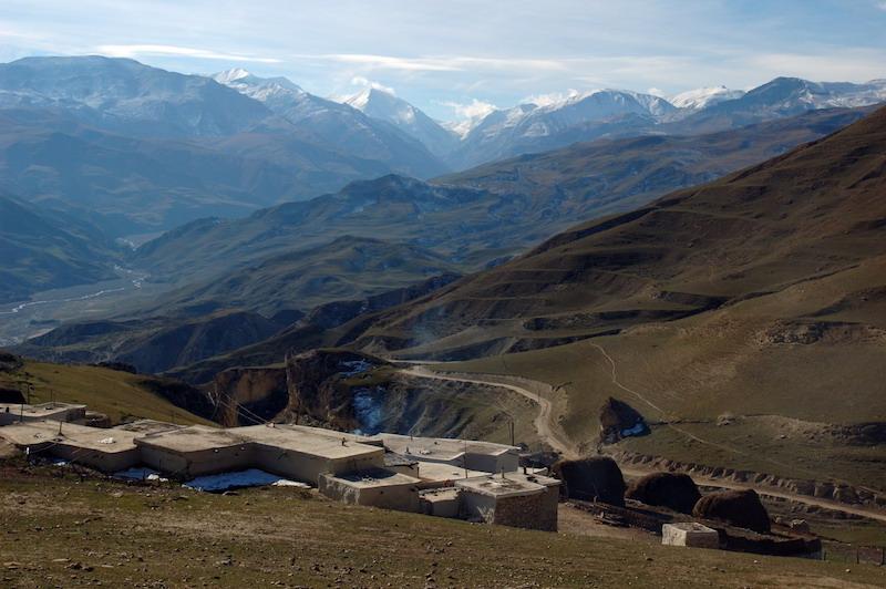 Caucasus Mountains in northern Azerbaijan