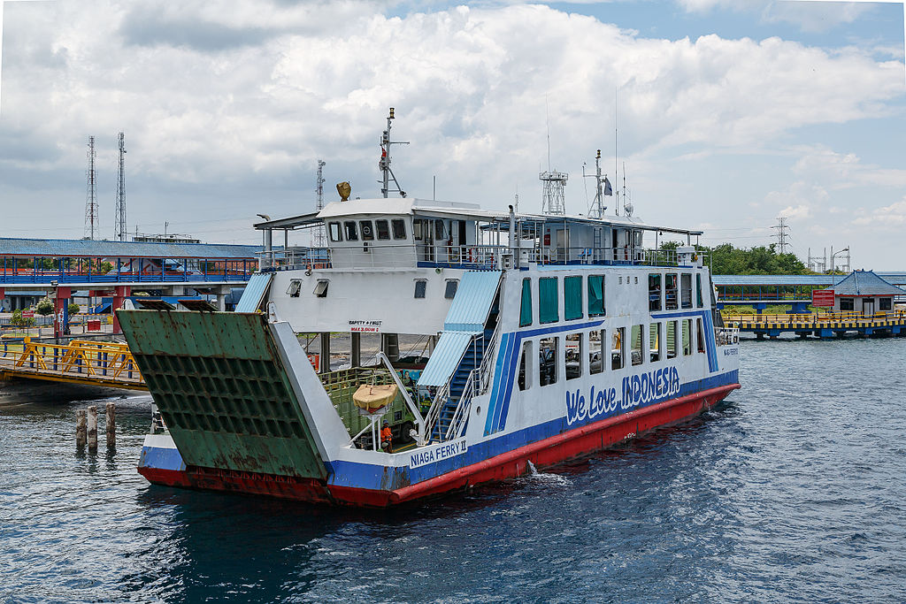 "The ferry ""KMP Niaga Ferry-II"" in the Bali Strait"