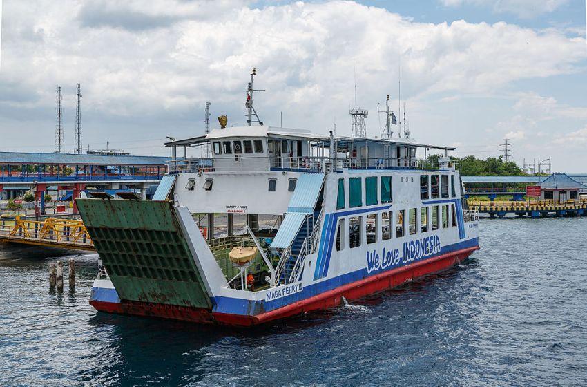 "The ferry ""KMP Niaga Ferry-II"" in the Bali Strait"