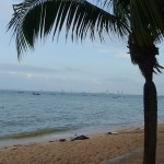 View of Bang Saen beach in Chonburi province