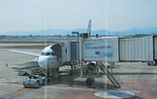 Bangkok Airways Airbus A319 at Chiang Mai International Airport