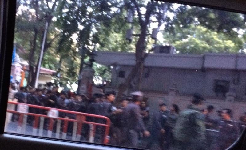 Thai police crime reenactment