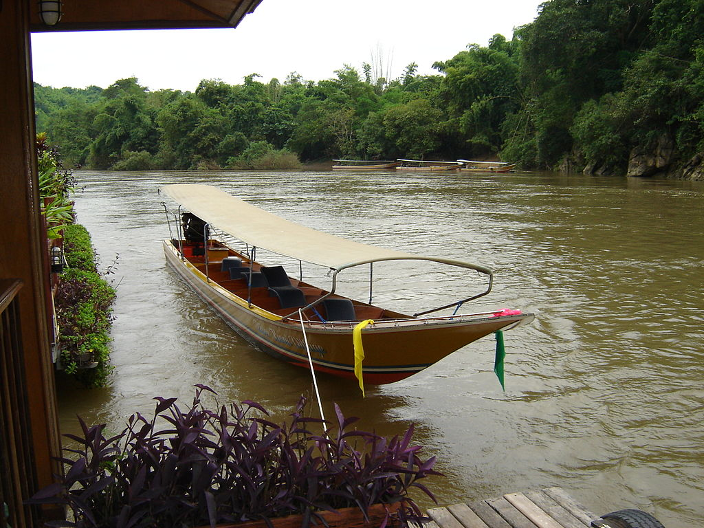 Boat on the Kwai Noi River in Kanchanaburi