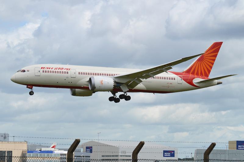 Boeing 787-8 Deamliner 'VT-ANL' Air India seen arriving at London Heathrow from Delhi.