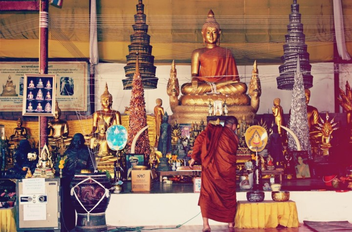 Buddha image at Buddhist temple in Thailand