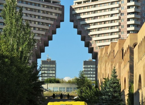 Buildings in Yerevan, Armenia