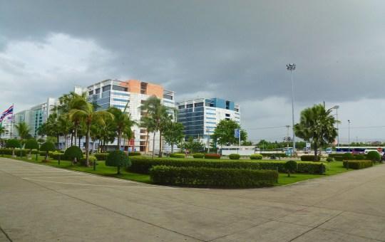 Buildings near IMPACT Arena in Nonthaburi