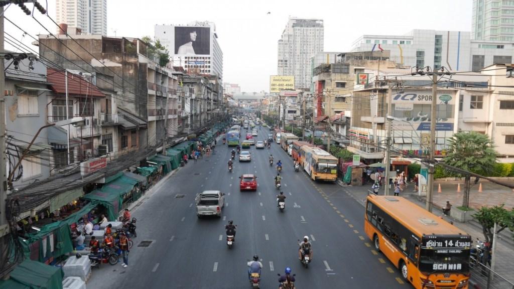 Buses in Lumpini, Bangkok