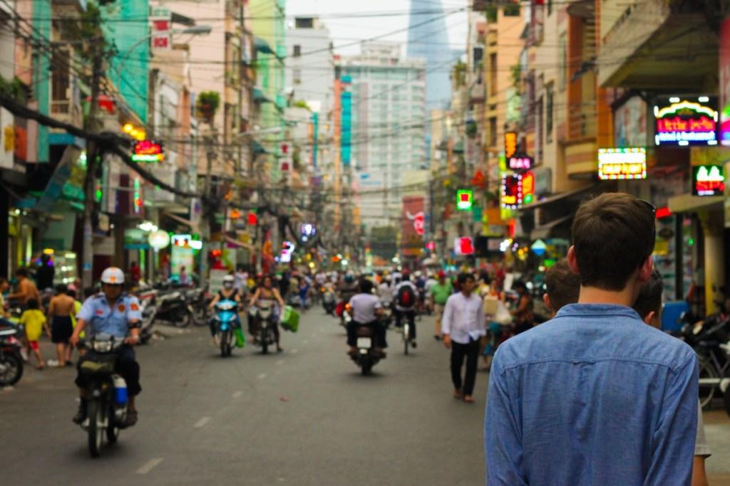 Busy street in Bangkok