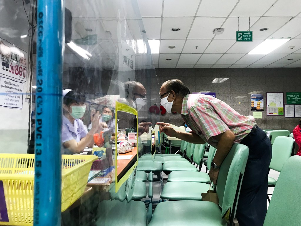 Seating arrangements and measures at Bangkok Hospital during COVID-19 Outbreak