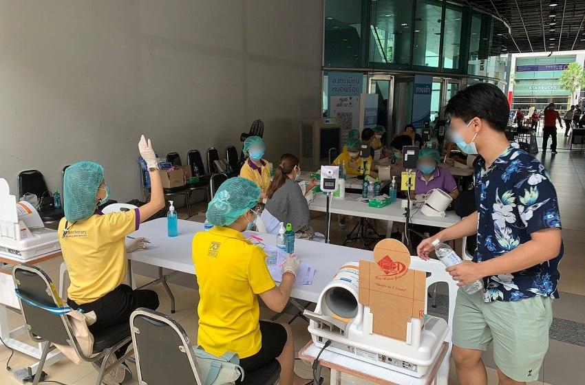 COVID-19 vaccination at Srinakharinwirot University in Bangkok