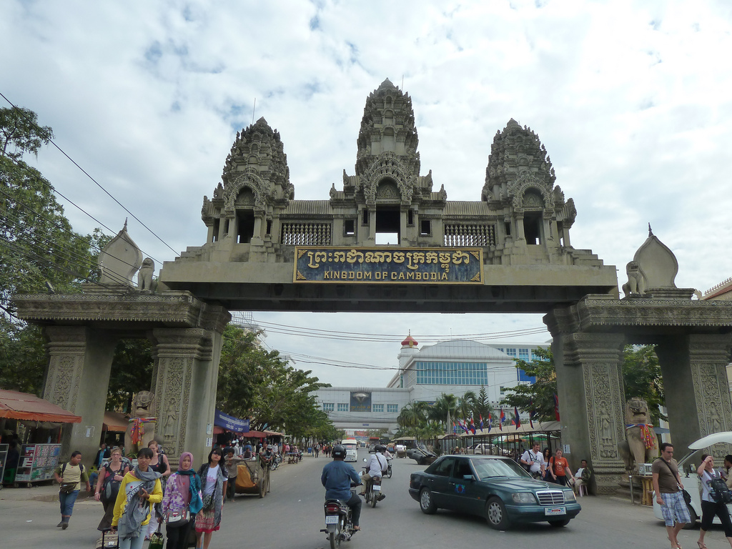 Thai Cambodian border crossing at Poipet
