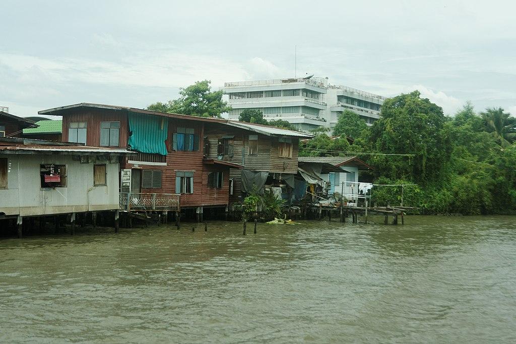 A Khlong (Canal) at Wat Bang Sao Thong in Samut Prakan province