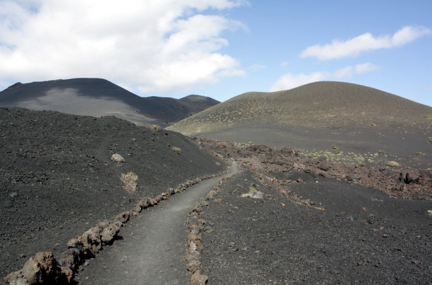 Volcanic landscape in the Canary Islands, Spain