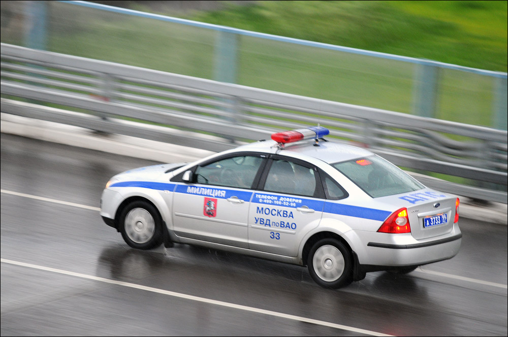 Russian Police car in Moscow