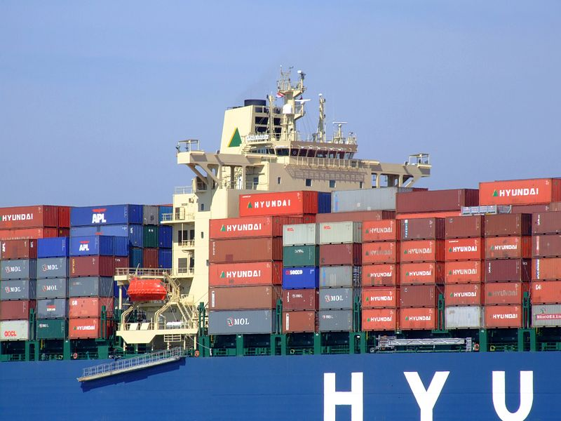 Hyundai Bangkok cargo ship with containers