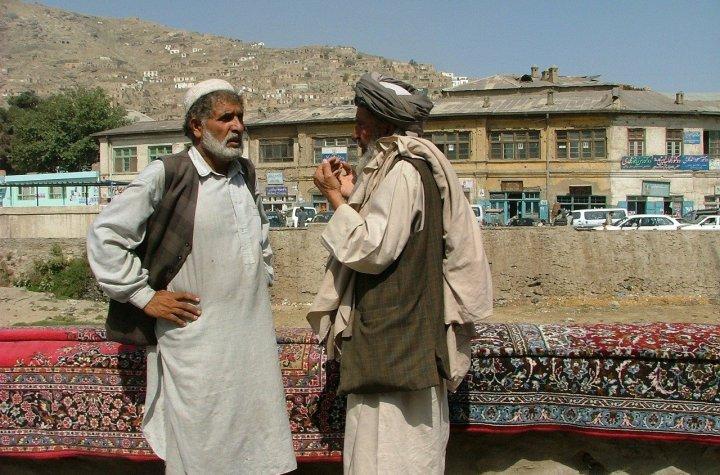 Carpet salesmen in Kabul, Afghanistan