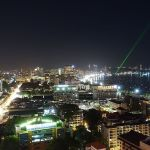 Central Pattaya at night