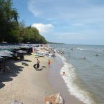 Beach in Cha-am, Phetchaburi