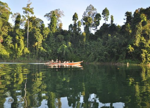 The Cheow Lan Lake in the Khao Sok National Park