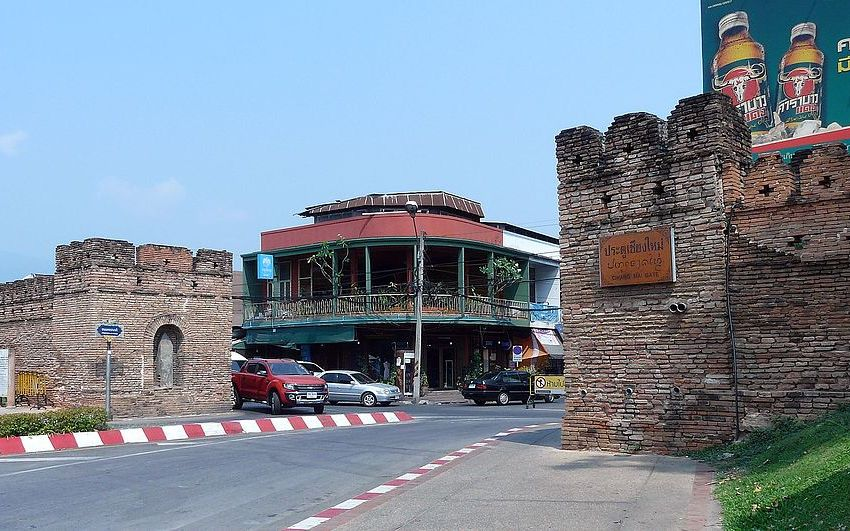 Chiang Mai city wall and gate