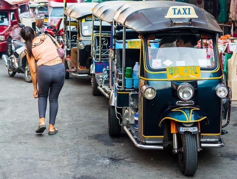 Tuk tuk in Chiang Mai old town